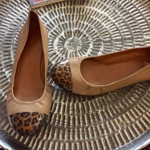 J. Crew Shoes - J crew tan leopard flats Sz 8.5 Good Condition